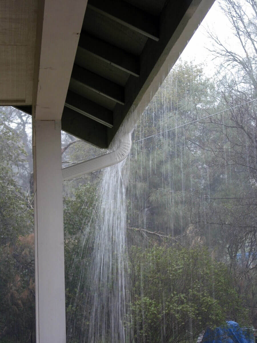 gutter overflow and clog